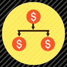 business, dollar, finance, invetment, money, tree icon