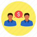business, chat, communication, dollar, finance, money, talk icon
