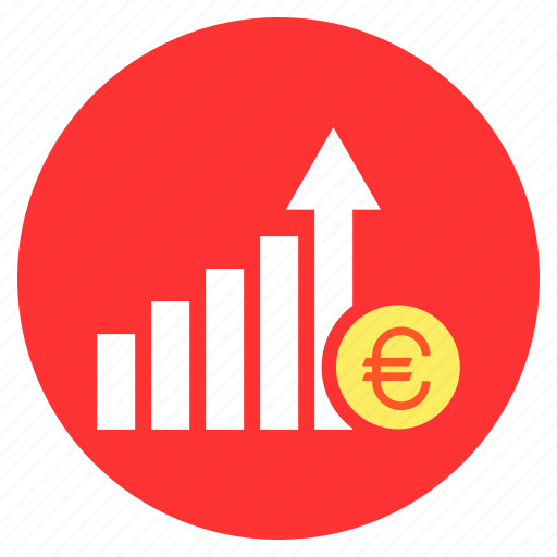 business, euro, finance, growth, increase, sucess icon