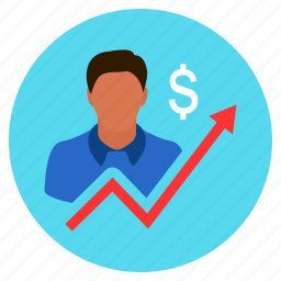business, dollar, finance, growth, increase, sucess icon