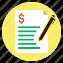 bill, dollar, finance, loan, quotation