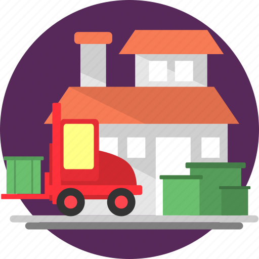 box, car, courier, delivery, order, package, shipping icon