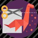 concept, cutter, energetic, futuristic, maker, origami, paper icon