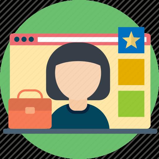 document, layout, portfolio, presentation, profile, resume icon