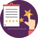 feedback, rating, report, review, service, star icon
