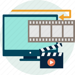 animation, cut, editing, effects, motion, render, video icon