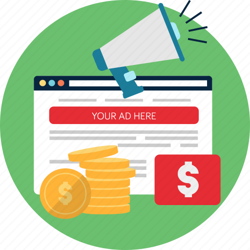 advertising, business, click, development, marketing, pay, website icon