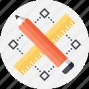 art, design, development, draw, graphic, pencil, ruler