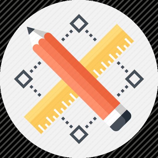 art, design, development, draw, graphic, pencil, ruler icon
