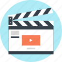 action, cinema, clapboard, clapper, film, movie, video icon