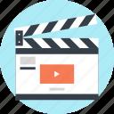 action, cinema, clapboard, clapper, film, movie, video
