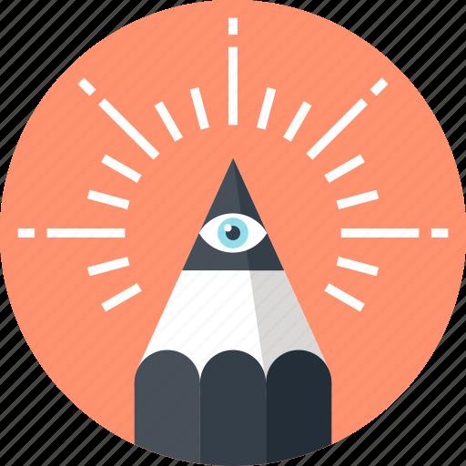 art, creative, design, draw, eye, graphic, pencil icon