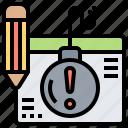 appointment, deadline, final, limit, schedule icon