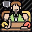 discussion, consult, brainstorm, meeting, conversation icon