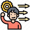 intelligence, learning, problem, process, solving icon