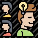 creativity, different, idea, think, unique icon
