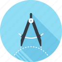 compass, design, drawing, geometry, graphic, precision, tool