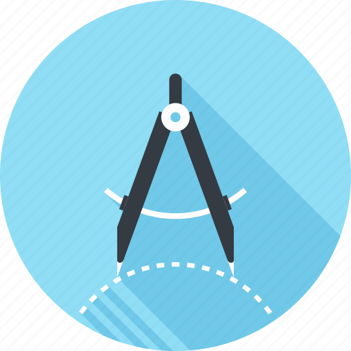 Compass, design, drawing, geometry, graphic, precision, tool icon - Download on Iconfinder