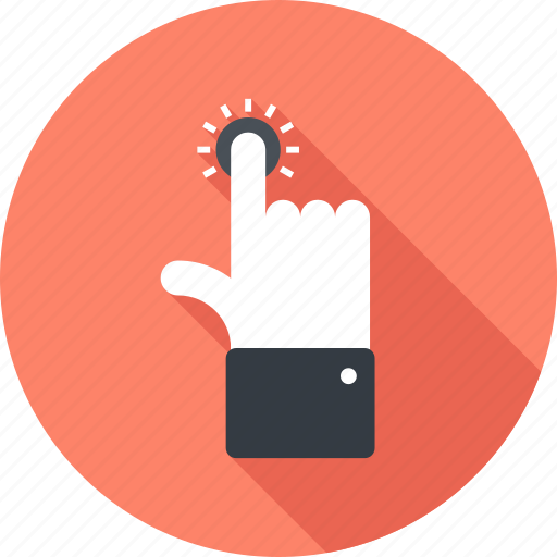click, finger, gesture, hand, screen, select, touch icon