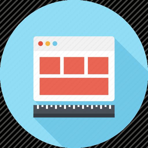 adaptive, design, development, layout, responsive, template, web icon