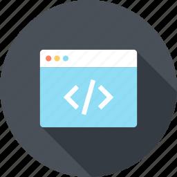 application, code, coding, development, program, software, web icon
