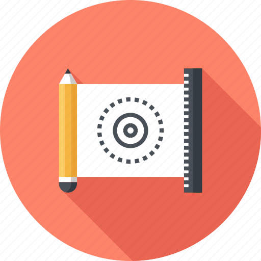 blueprint, concept, design, development, drawing, engineering, product icon