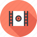 cinema, film, media, movie, play, strip, video icon
