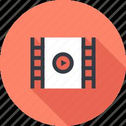 cinema, film, media, movie, play, strip, video icon