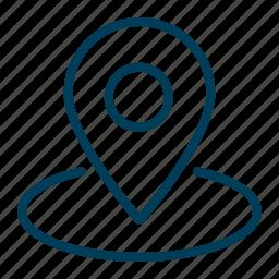 location, marker, navigation, pin, pointer icon