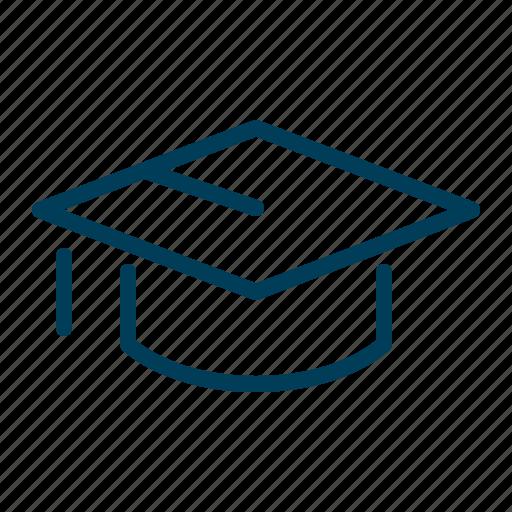 degree, education, graduate, graduation, knowledge, student, university icon