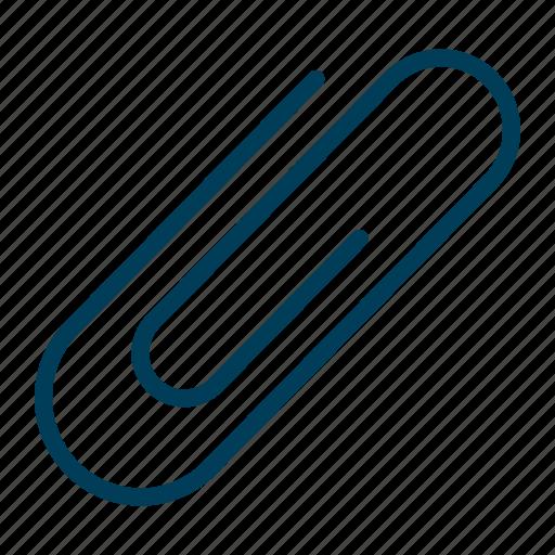 attach, attachment, clip, document, paperclip, stationery icon