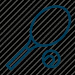 equipment, game, racket, sport, tennis icon