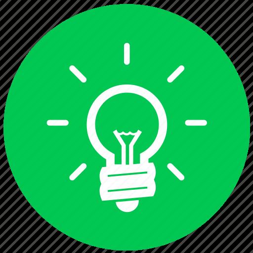 bulb, electric, electricity, energy, idea, lamp, light icon