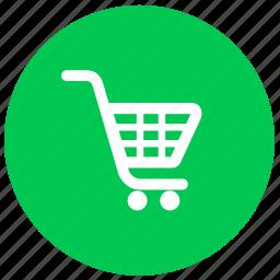 buy, cart, ecommerce, round, shopping icon