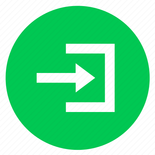arrow, in, log in, right, sign in icon