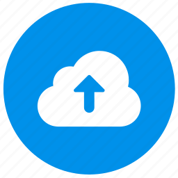 arrow, cloud, direction, round, up, upload icon