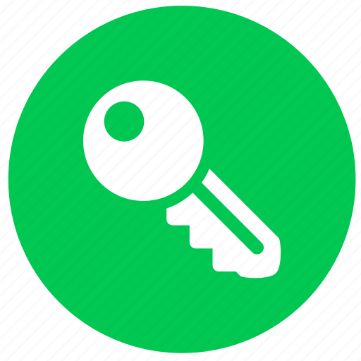 key, lock, password, protection, round, safe, security icon