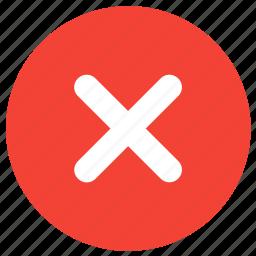 cancel, close, cross, delete, exit, remove, stop icon