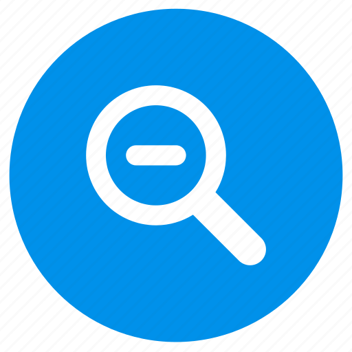 Glass, magnifier, magnifying, out, zoom icon - Download on Iconfinder