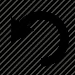 arrow, back, left, refresh, reload, repeat, undo icon