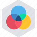 circle, colorful, creative, design, round, shape icon
