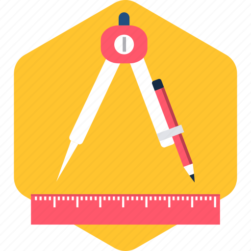 draw, drawing, edit, geometry, pen, stationary, stationery icon