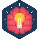 brain, bulb, electric, electricity, energy, idea, lamp icon