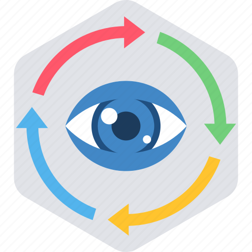 clock, eye, eyes, look, view, vision, watch icon