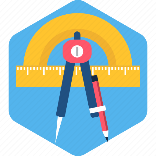 art, drawing, geometry, pencil, stationary, stationery icon
