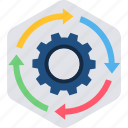 connection, gear, options, process, structure, workflow icon