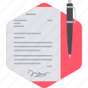 signature, agreement, business, contract, deal, document, office