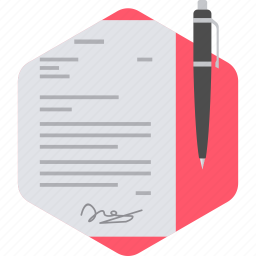 agreement, business, contract, deal, document, office, signature icon