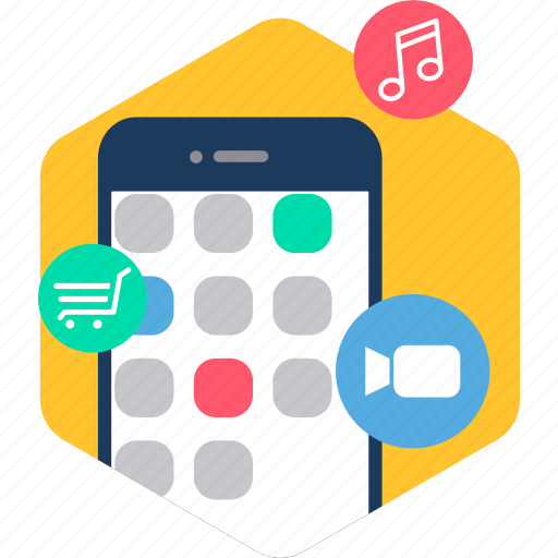 app, apps, device, mobile, multimedia, phone, smartphone icon