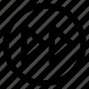 circle, interface, rewind, user